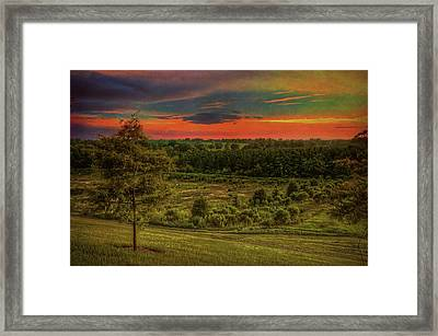 Framed Print featuring the photograph End Of Day by Lewis Mann