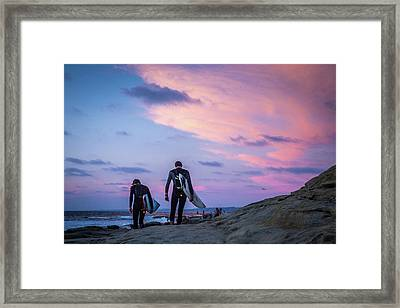 End Of Day Framed Print by Peter Tellone