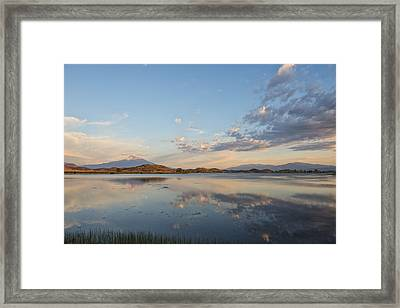 End Of Day Reflections Framed Print