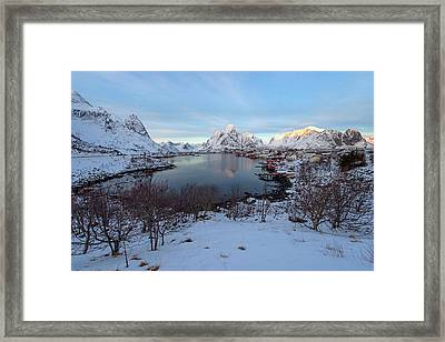 Framed Print featuring the photograph End Of Day, Reine, Lofoten,  by Dubi Roman