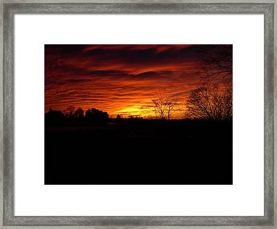 End Of Day Framed Print by Traci Goebel