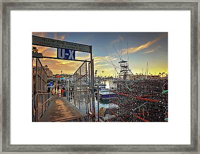 End Of Fishing Day Framed Print