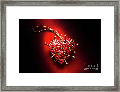 End Of Heartache Framed Print