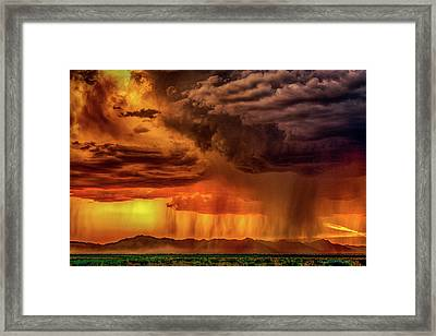 End Of Monsoon Season Framed Print by Janet Ballard