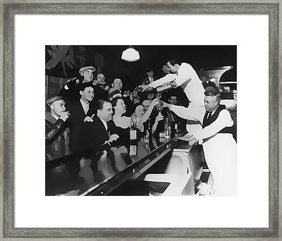 End Of Prohibition At The Bar Framed Print