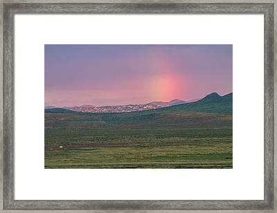 Framed Print featuring the photograph End Of Rainbow by Hitendra SINKAR