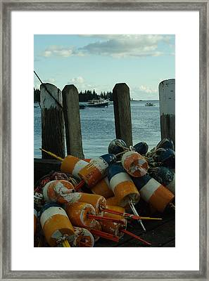 End Of Season At Owls Head Framed Print