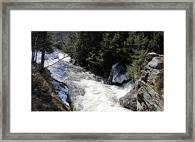 End Of Snow Falls Framed Print by Sandra Huston