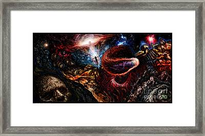 End Of Space Framed Print by Tony Koehl
