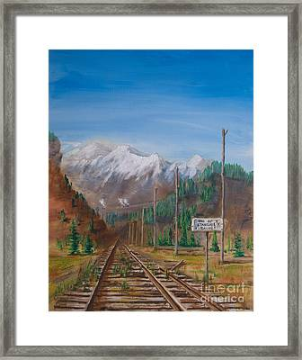 End Of Standard Gauge Framed Print by Christopher
