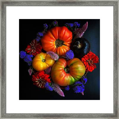End Of Summer Colors Framed Print