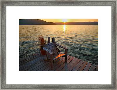 End Of Summer II Framed Print