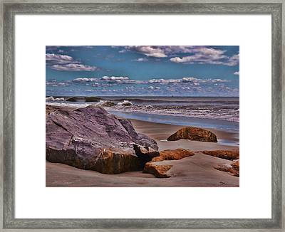 End Of Summer Seascape Framed Print by Mikki Cucuzzo