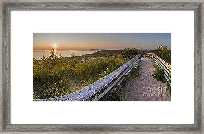 End Of The Boardwalk Framed Print