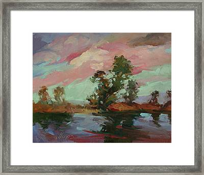 End Of The Cottonwoods Framed Print