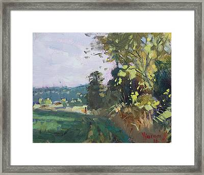 End Of The Day In The Farm  Framed Print