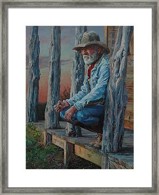 End Of The Day Framed Print by Jim Clements