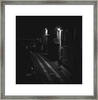 End Of The Day-returning Home Framed Print