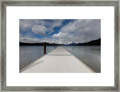 End Of The Dock Framed Print