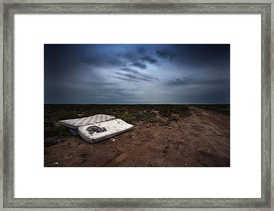 Framed Print featuring the photograph End Of The Earth by Tim Nichols