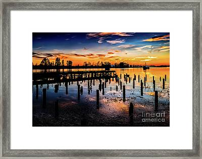 End Of The Fishing Day Framed Print