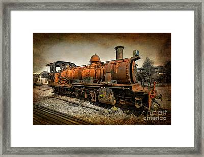 End Of The Line Framed Print by Adrian Evans