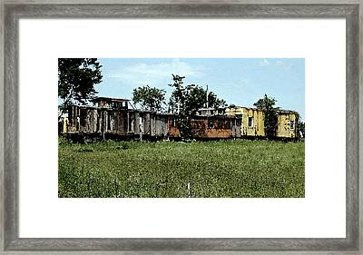 End Of The Line Framed Print by Don and Sheryl Cooper