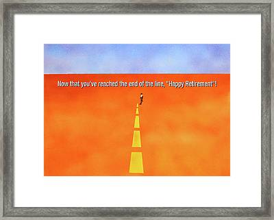 End Of The Line Greeting Card Framed Print by Thomas Blood