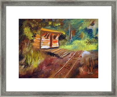 End Of The Line Framed Print by Phil Burton