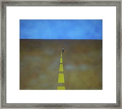 Framed Print featuring the painting End Of The Line by Thomas Blood
