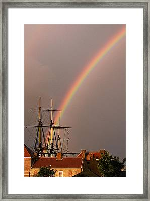 End Of The Rainbow Framed Print by Barry Hayton