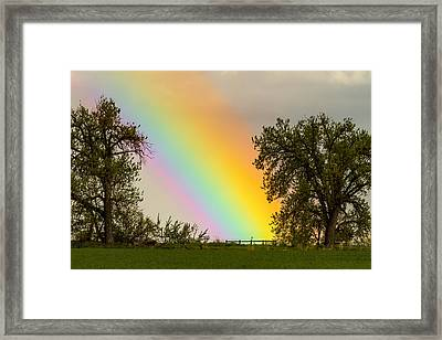 End Of The Rainbow Pot Of Gold Framed Print