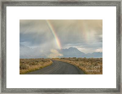 End Of The Rainbow Framed Print by Sandra Bronstein