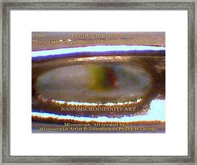 Framed Print featuring the painting End Of The Rainbow With Large Watermarking by Phillip H George