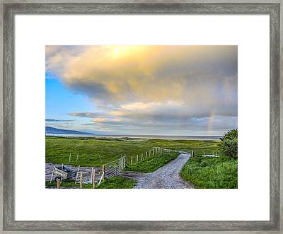 End Of The Road, Brora, Scotland Framed Print
