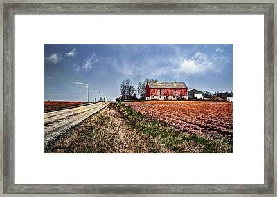 End Of The Road Framed Print by Deborah Klubertanz