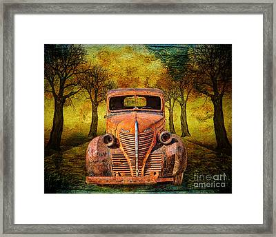 End Of The Road For This Plymouth Framed Print by Janice Rae Pariza