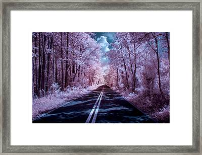 Framed Print featuring the photograph End Of The Road by Louis Ferreira