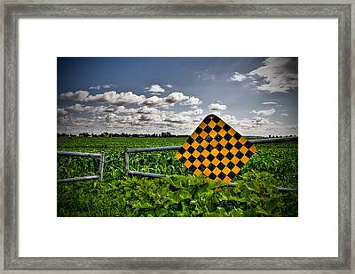 End Of The Road Framed Print by Michel Filion