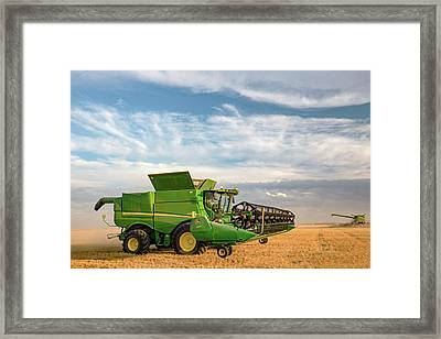 End Of The Row Framed Print by Todd Klassy