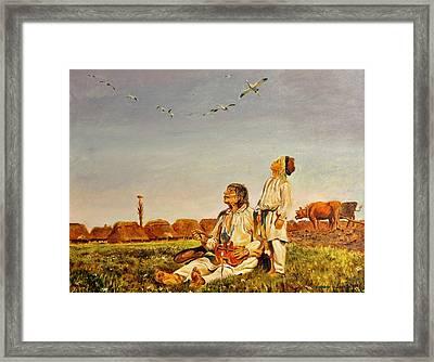 End Of The Summer- The Storks Framed Print