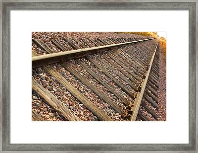 End Of The Tracks Framed Print by James BO  Insogna