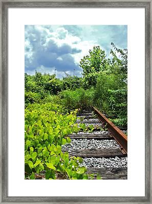 End Of The Tracks Framed Print