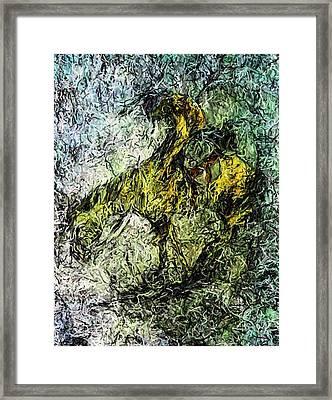 End Of The Trail 5 Framed Print by Ayasha Loya