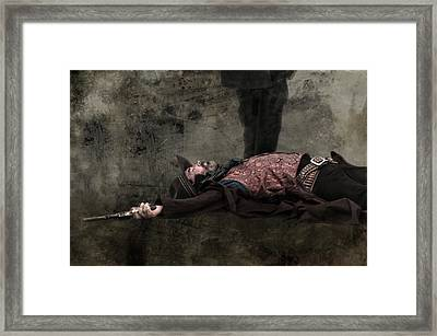 End Of The Trail - Gunslinger Meets His End Framed Print by Mitch Spence