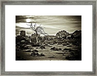 Framed Print featuring the photograph End Of The Trail by Tom Vaughan
