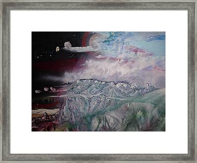Framed Print featuring the painting End Of The World by Steven Holder
