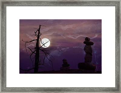 End Of Trail Framed Print