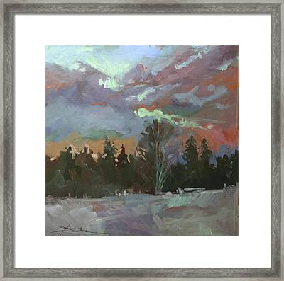 Winter's Last Flame Framed Print