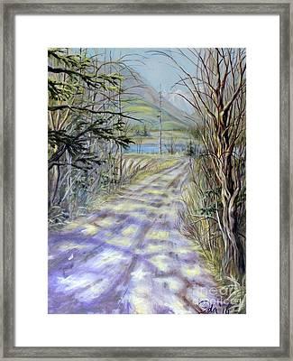 End Of Winter Framed Print